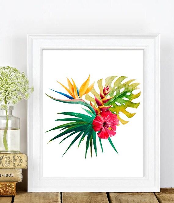 Tropical Botanical Wall Art Modern Home Decor by ...