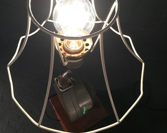 S O L D - Vintage Hair Dryer Lamp
