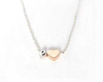 Initial necklace, letter necklace, cursive letter necklace, monogram necklace, personalized letter necklace, silver necklace, gold necklace