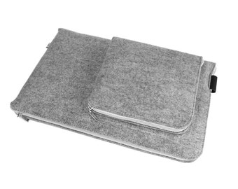 MACBOOK PRO SLEEVE Felt Cover Laptop All Sizes 11, 13, 15, 16 inch notebook case with white zipper