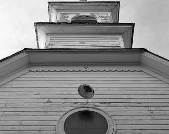Old White Church Steeple Country Photography