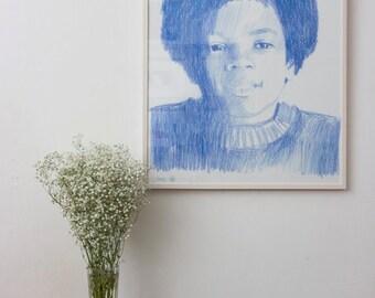 Items Similar To Michael Jackson Art Portrait Calligram Or
