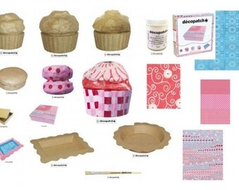 Decopatch Kit - Delice - Tray, Cakes and Boxes Kit, Starter set, craft kit, birthday present, craft project