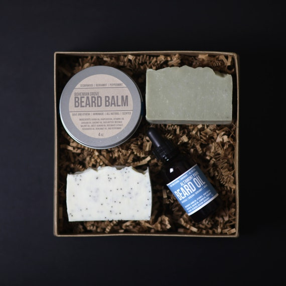 beard care gift set valentines day gift beard by daveandathena. Black Bedroom Furniture Sets. Home Design Ideas