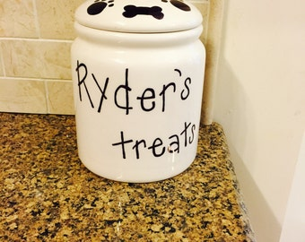 Customized Dog Treat Jar