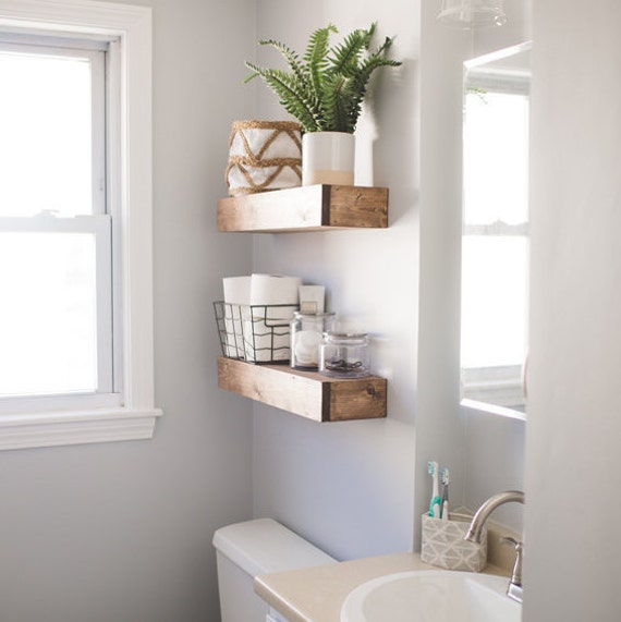 Rustic Floating Shelves Floating Shelf Wooden By
