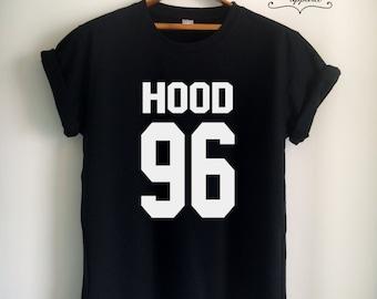 Hood Shirt Hood T Shirt Hood Merch Clothes Apparel for Women Girls Men Tumblr Summer Top Tee Jersey White/Black/Grey/Red