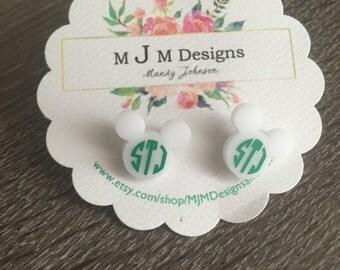 Mickey Monogrammed Earrings