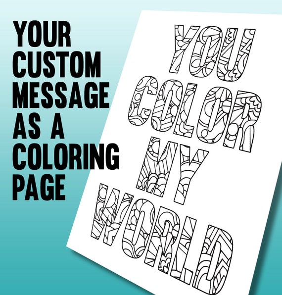 Personalized coloring page printable a4 coloring page made for Custom coloring pages