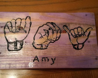 ASL Name Boards - Customizable