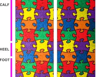 Autism Awareness Socks-Autism Puzzle Socks