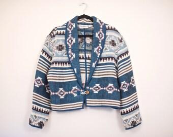 SALE! Vintage Southwestern Coat / Woven Navajo