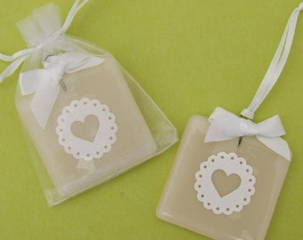 Handmade Glass Wedding Keepsake Favour with Confetti Papercut Heart by Jessica Irena Smith
