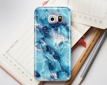 Light Blue Gray Gold Marble Stone Texture Hard Case for Samsung S3 S4 mini S5 S5 S6 Edge+ A3 Grand Note 2 3 4 5 matte case glossy