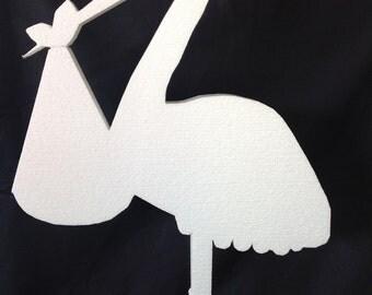 Stork wih Baby Foam Art