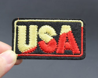 USA Iron On Patch Embroidered patch 6.7x3.7cm - PH186