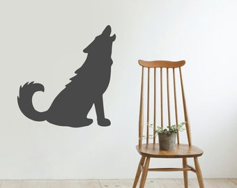 Wolf Wall Decal - Animal Wall Decal - Home Decor Interior Design Wall Art