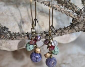 Purple Crazy Lace Agate earrings