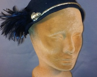 Black Wool hat with feather
