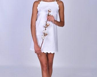 Nightdress made of organic cotton, bridal nightie, bridesmaid night gown