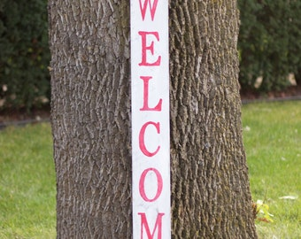 READY TO SHIP! Holiday Welcome Front Porch Wooden Sign, Rustic Welcome Sign, Front Porch Decor, Wooden Welcome Sign, Holiday Sign