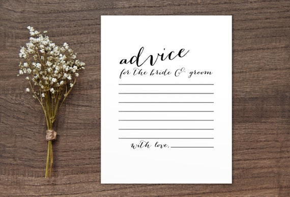 Advice For The Bride And Groom Wedding By DecorAmoreStore