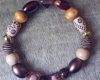 Purple Brown bracelet