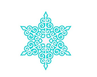 Swirly Snowflake Embroidery Design