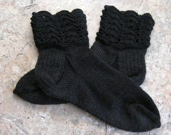 Black socks for girl or woman