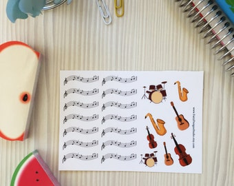 Musical Instruments Planner Stickers