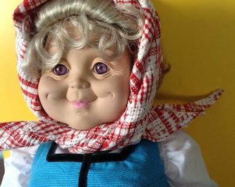 Granny world Swedish grandma, Swedish grandmother, Swedish Mormor,  collectible doll,