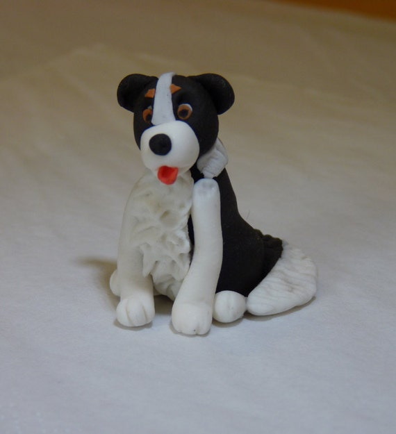 Edible Dog Cake Images : Dog Puppy Edible Sugar Paste Decoration Cake Cupcake Toppers