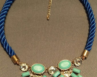 Blue and teal necklace