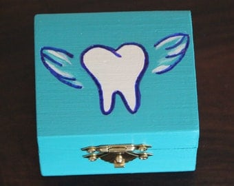 Teal Tooth Fairy Box! Tooth fairy keepsake box, tooth storage, gift box