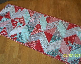 Quilted Table Runner; Winterberry