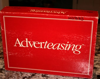1988 Adverteasing Board Game//By Cadaco// Game of Slogans, Commercials and Jingles//Vintage Adult Board Game