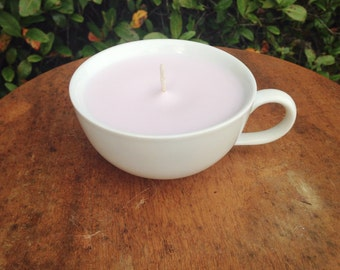 Purple Coffee Mug Candle // Soy Wax Candle // Coffe Lover