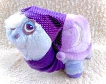 "Tonka Keypers Sheldon The Snail Plush Plushie Stuffed Rare Purple Keyper 1985 Vintage Shelldon Turtle 1980s Retro Sleepy Sleeping Hat 10"""