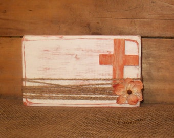 rustic cross frame distressed cross wooden block frame wooden cross frame autumn table frame orange tabletop decor rustic frame - Wooden Cross Frame
