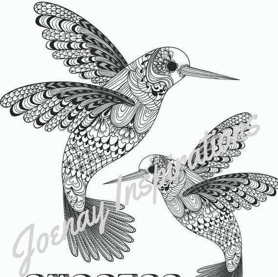 Adult Coloring Book Printable Coloring Pages, Coloring Pages, Coloring Book for Adults Instant Download Inspiration and Affirmation 2 page10