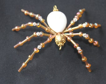Cute magnasite and brass spider.