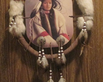 Dream Catcher--Vintage, Large, Handcrafted,  w/ Feathers-- Wall Hanging-NATIVE AMERICAN