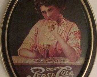 "Pepsi Cola Metal Change Tray / Tip Tray  or Wall Decor--Vintage---Metal.    ""I love its  Flavor"""