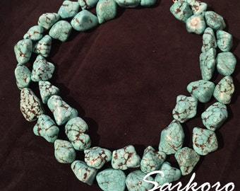 Beautiful Turquoise Nugget Necklace