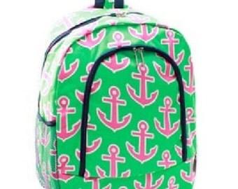 Anchors Backpack, Monogrammed Backpack, Monogrammed Bookbag, Personazlied Backpack, Personalized Bookbag, Bookbag, Backpack