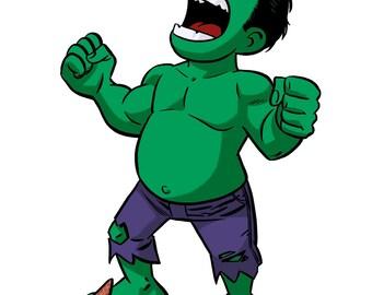 Little Hulk Sticker