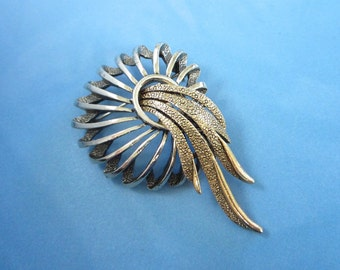 Mixed Metal ART Pin Brooch