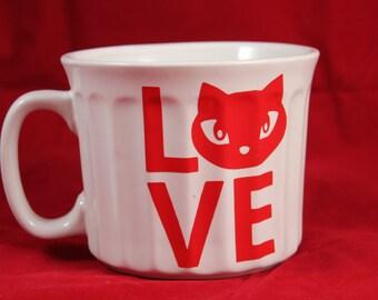 Kitty Cat Love Valentine's Day Jumbo Coffee Mug