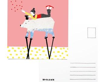 illustration postcard- Confetti