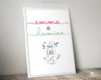 Poster Love Couple names [to customize]